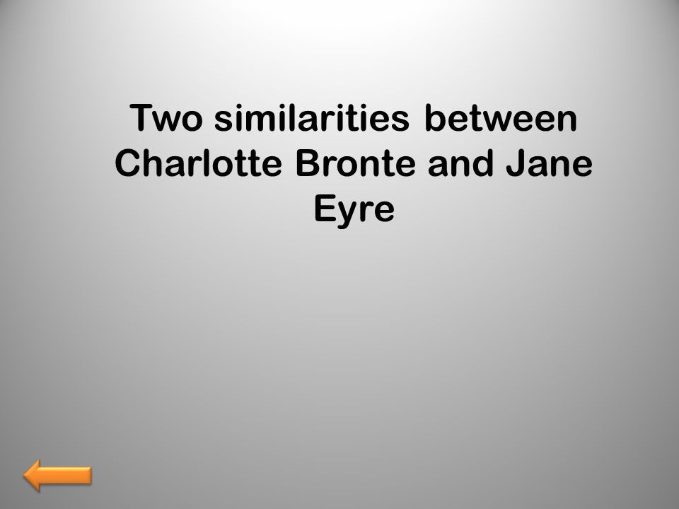 Two similarities between Charlotte Bronte and Jane Eyre