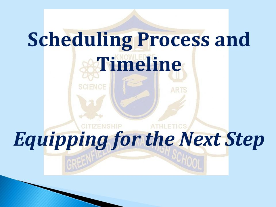 Scheduling Process and Timeline Equipping for the Next Step