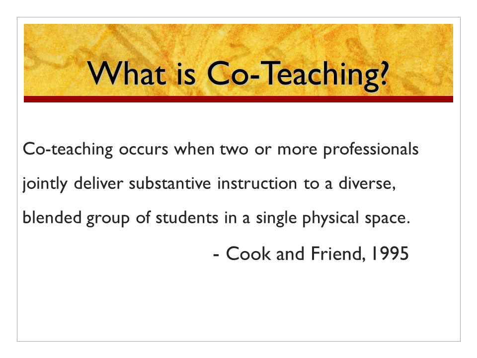 What is Co-Teaching.