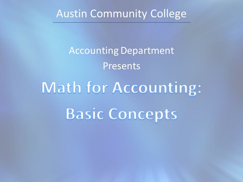 how is math used in accounting