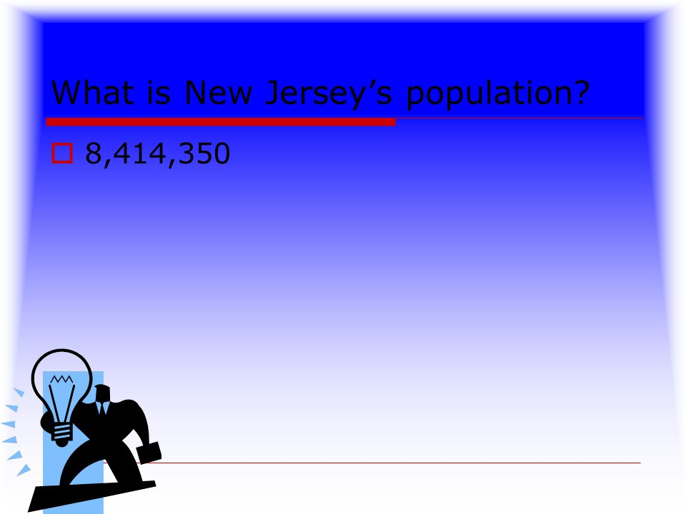 What is New Jersey's population  8,414,350