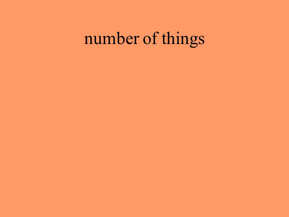 number of things