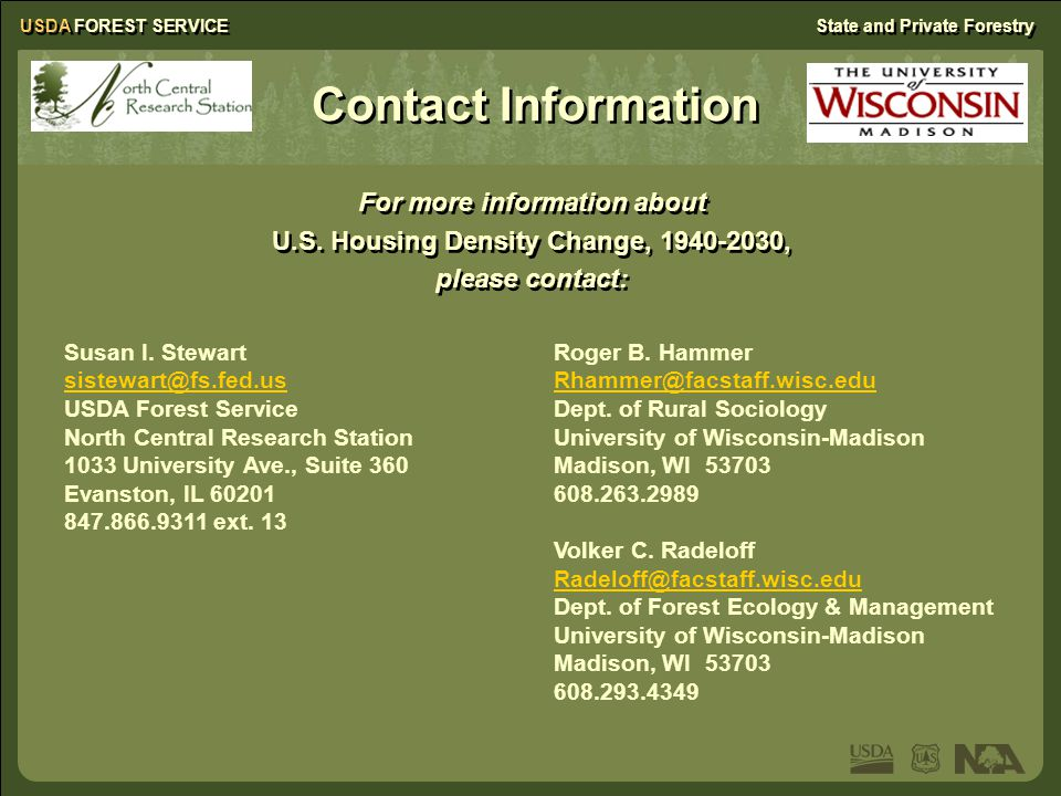 USDA FOREST SERVICEState and Private Forestry For more information about U.S.