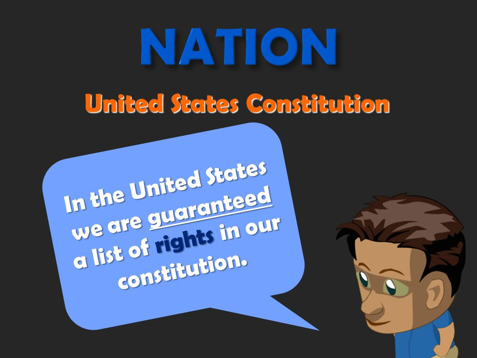 We get our rights and responsibilities as citizens from… A.