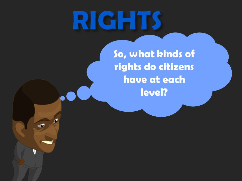 Rights are… A. things adults get to do. GOT IT. C.