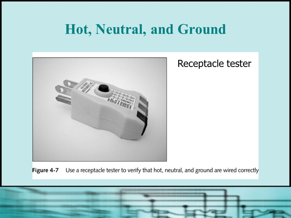 Hot, Neutral, and Ground Receptacle tester
