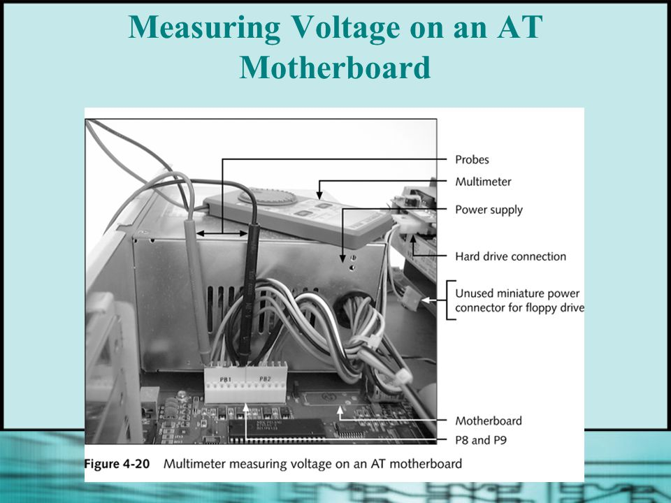 Measuring Voltage on an AT Motherboard