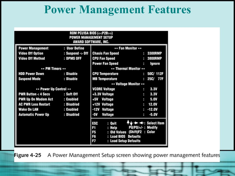 Power Management Features