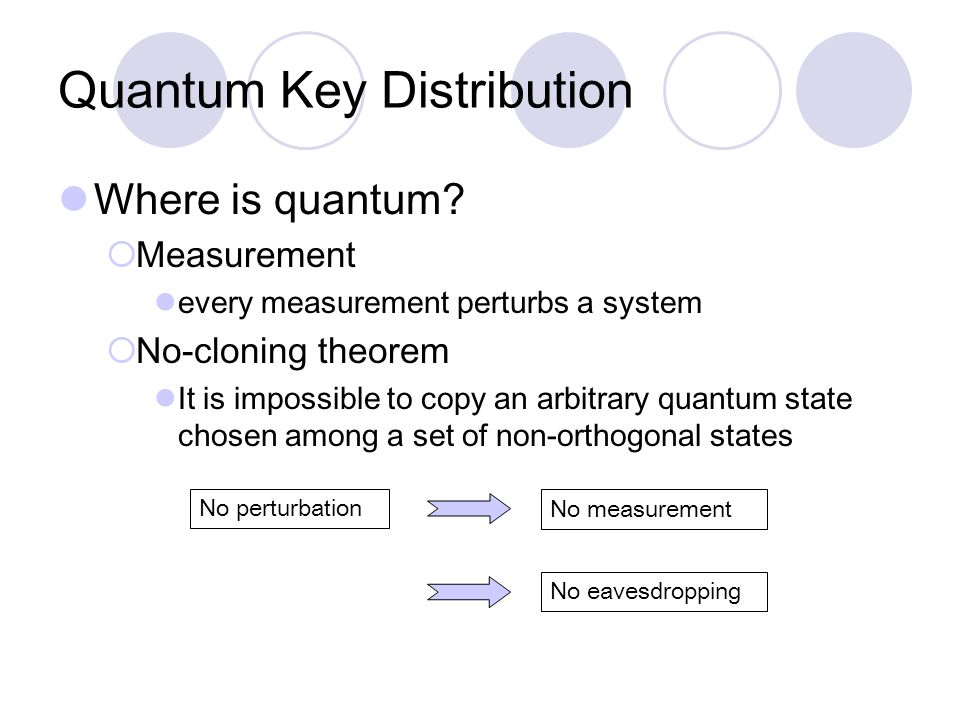 Quantum Key Distribution Where is quantum.