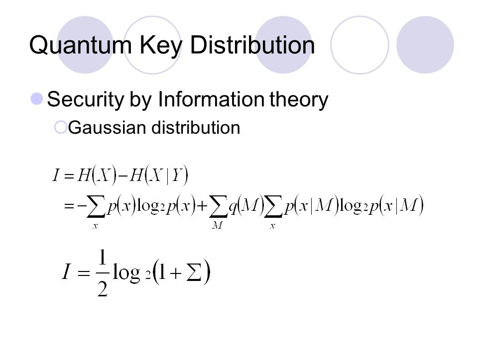 Quantum Key Distribution Security by Information theory  Gaussian distribution