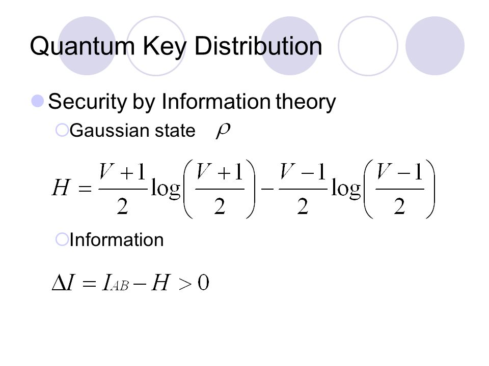 Quantum Key Distribution Security by Information theory  Gaussian state  Information