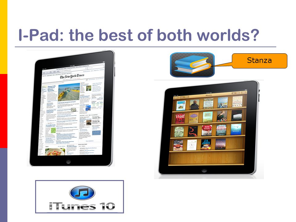 I-Pad: the best of both worlds Stanza