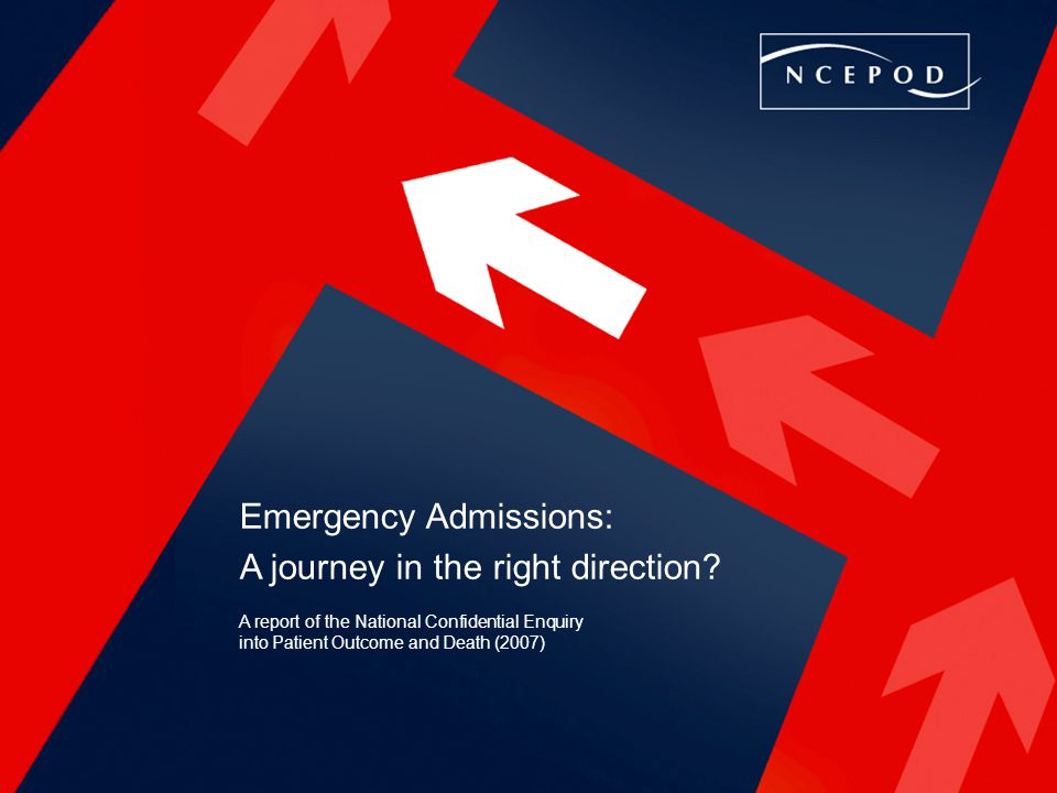 Emergency Admissions: A journey in the right direction.