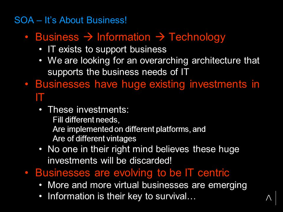 SOA – It's About Business.