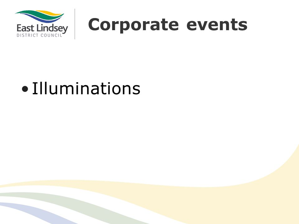 Corporate events Illuminations