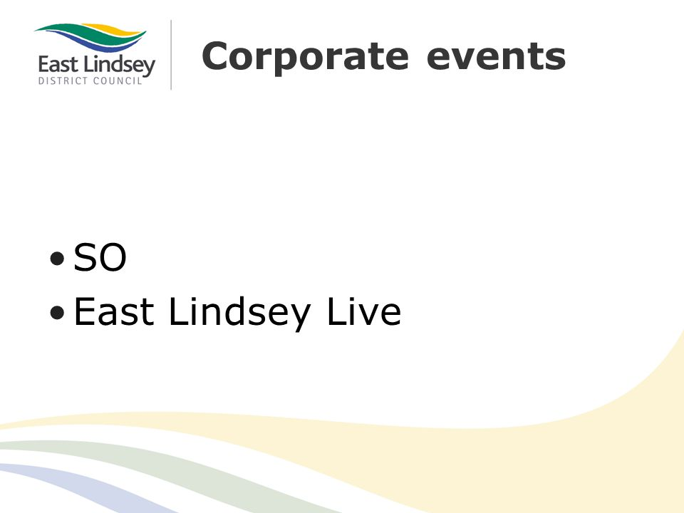 Corporate events SO East Lindsey Live