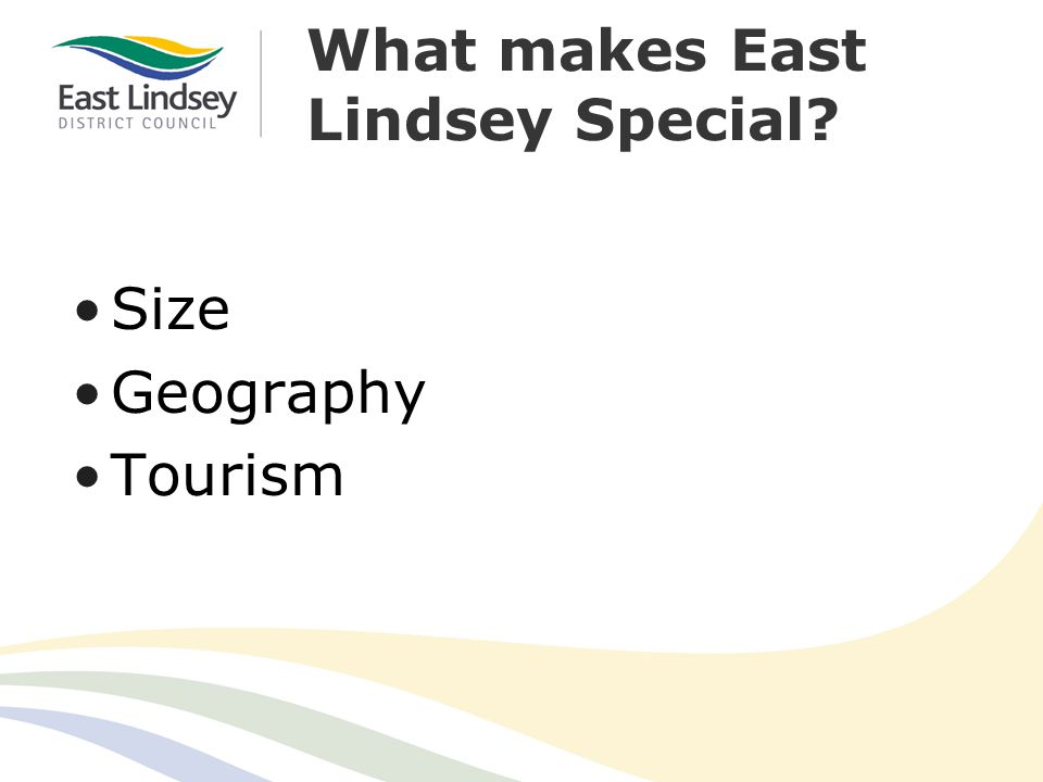 What makes East Lindsey Special Size Geography Tourism