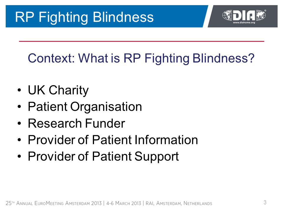 Context: What is RP Fighting Blindness.