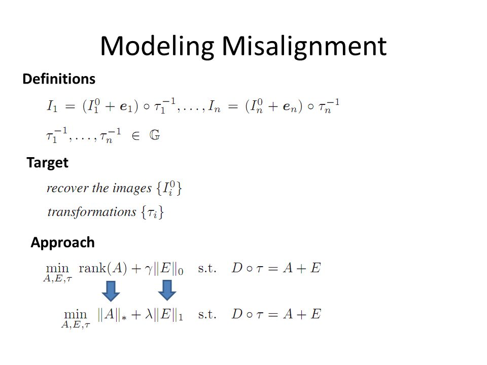 Modeling Misalignment Approach Target Definitions