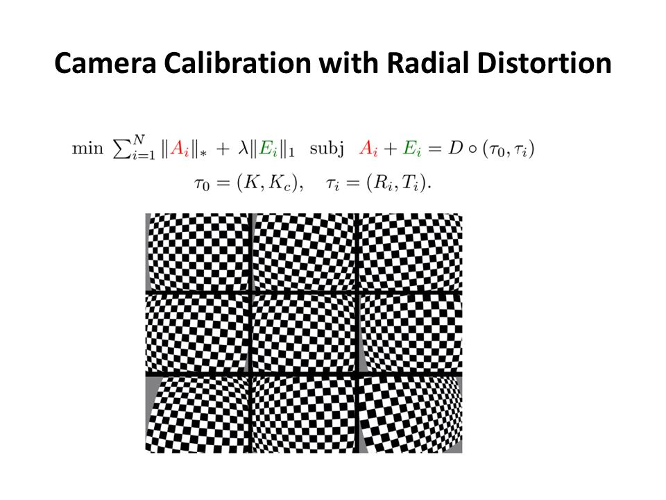 Camera Calibration with Radial Distortion