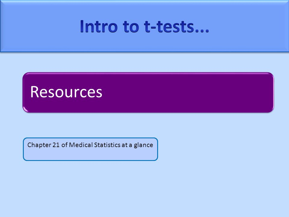 Resources Chapter 21 of Medical Statistics at a glance