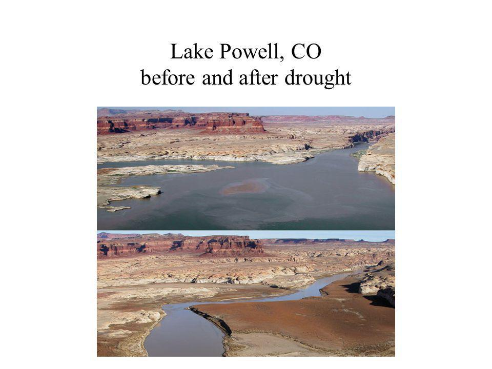 Lake Powell, CO before and after drought