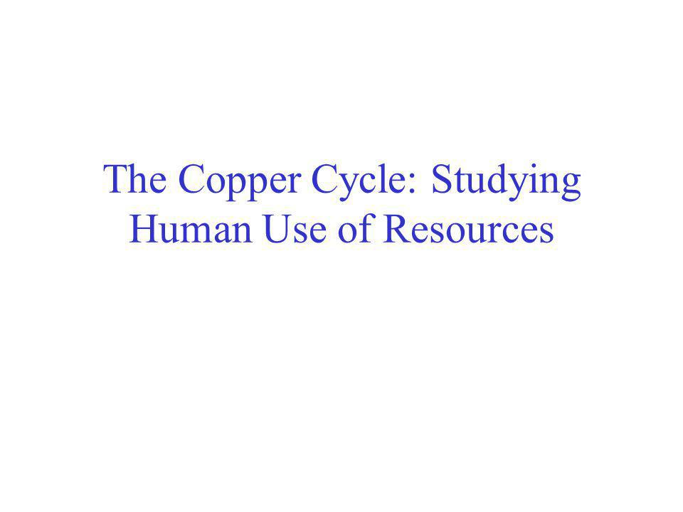 The Copper Cycle: Studying Human Use of Resources