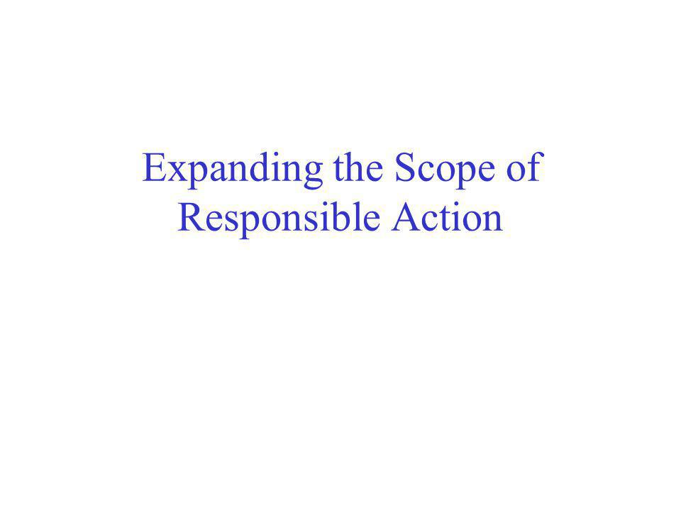 Expanding the Scope of Responsible Action