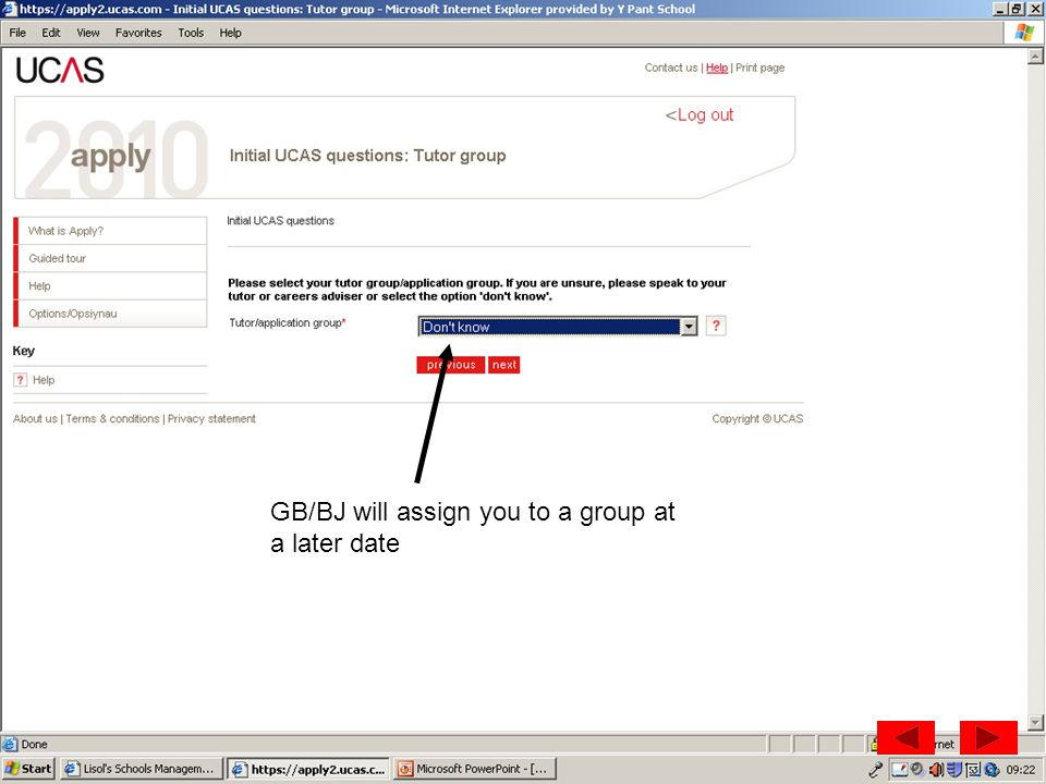 GB/BJ will assign you to a group at a later date