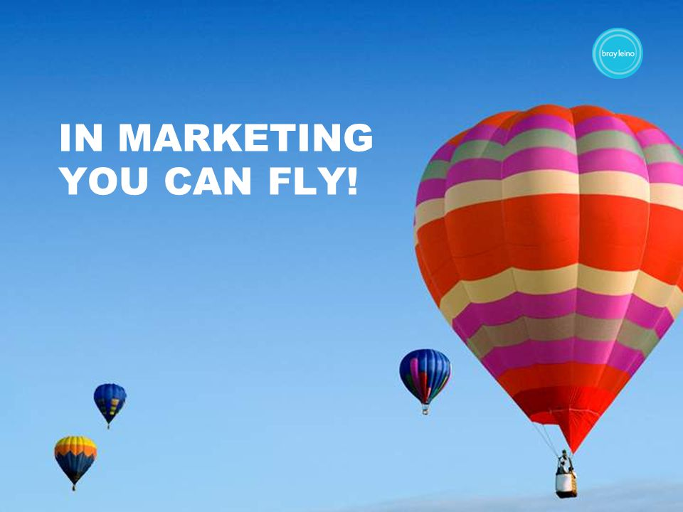 IN MARKETING YOU CAN FLY!