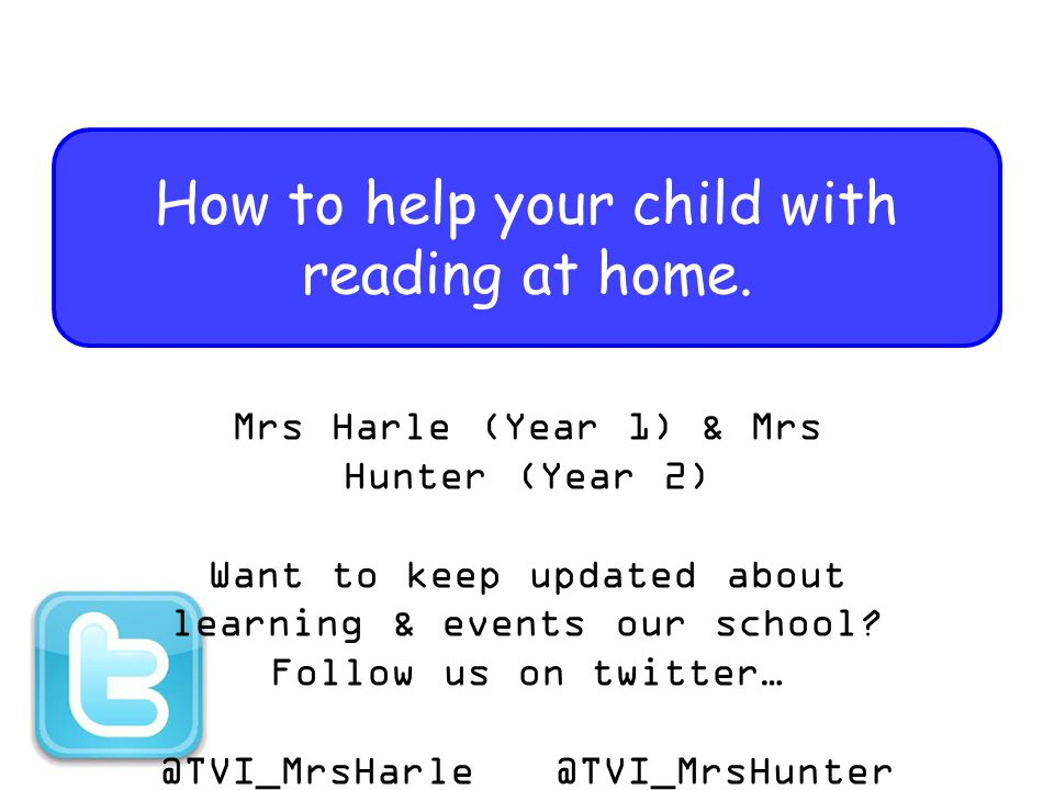 How to help your child with reading at home.