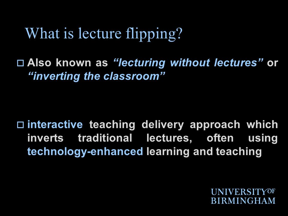 What is lecture flipping.