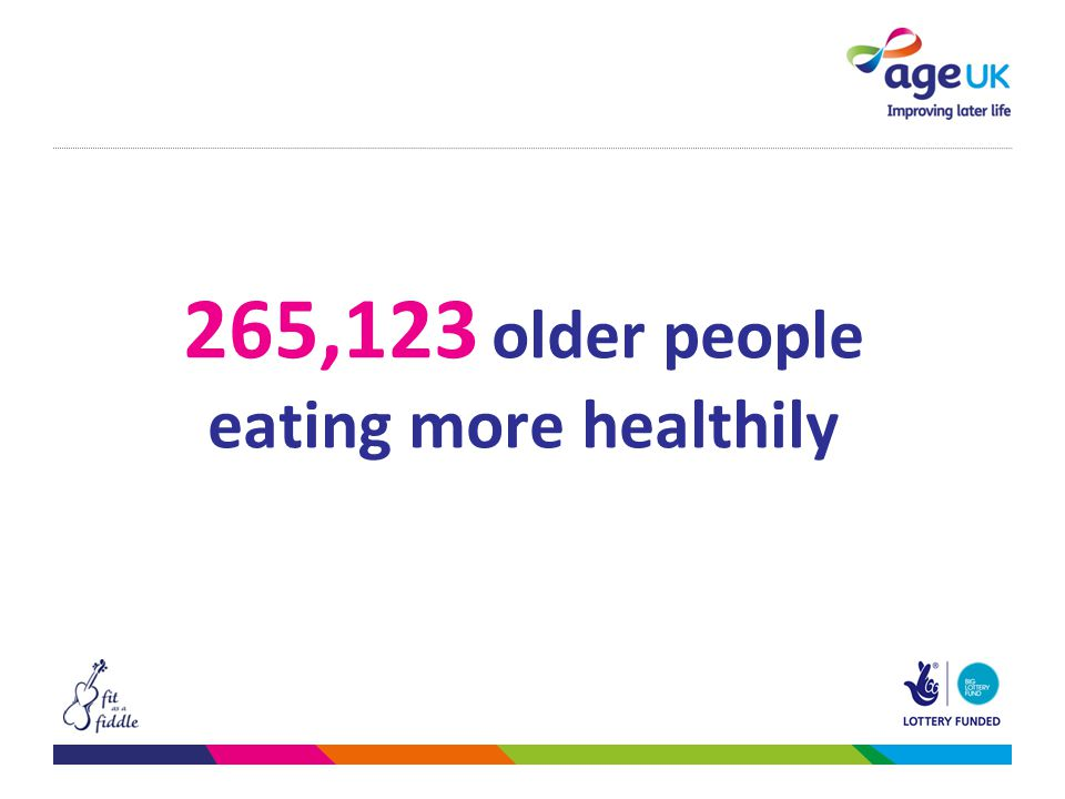265,123 older people eating more healthily