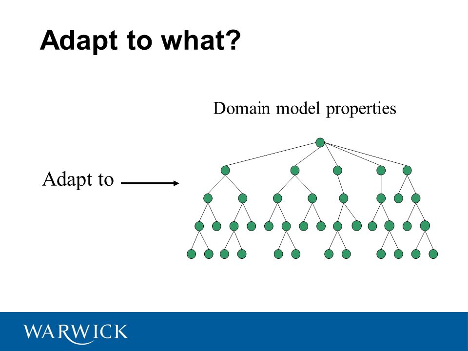 Adapt to what Adapt to Domain model properties