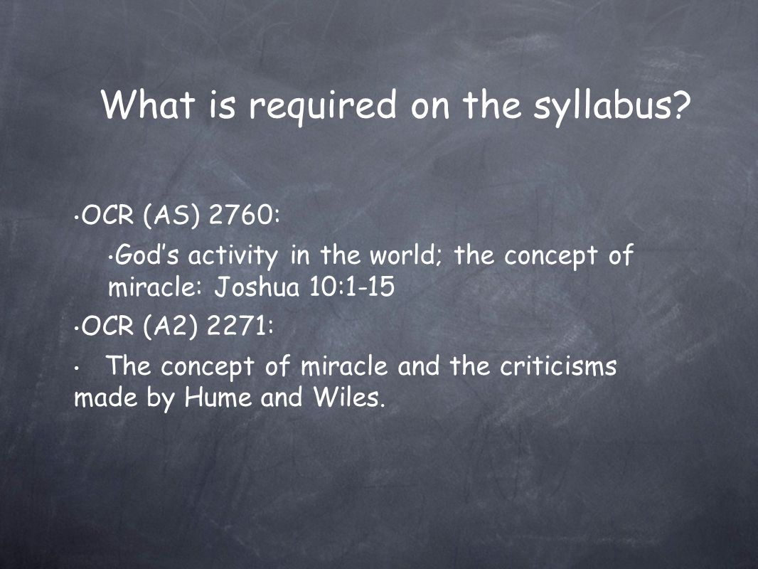 What is required on the syllabus.