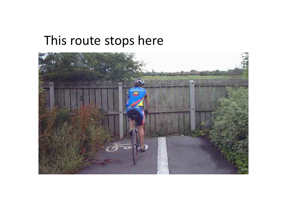 This route stops here