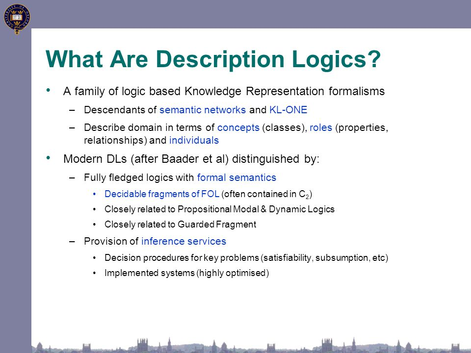 What Are Description Logics.