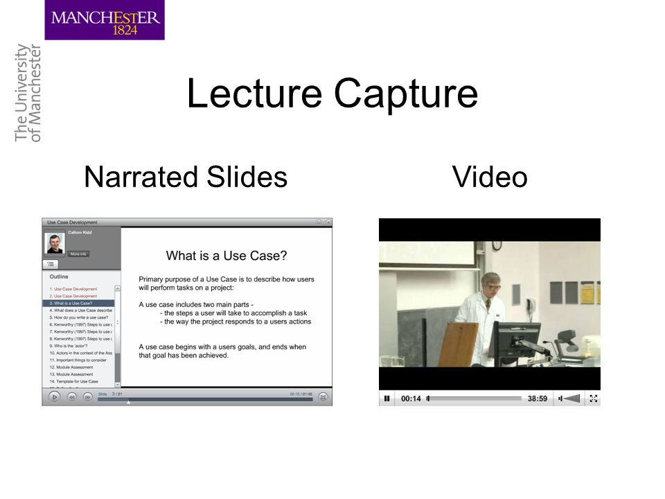 Lecture Capture Narrated SlidesVideo