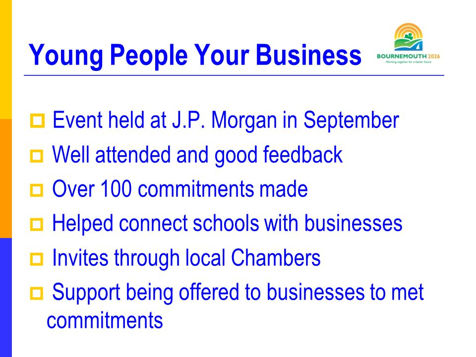 Young People Your Business  Event held at J.P.