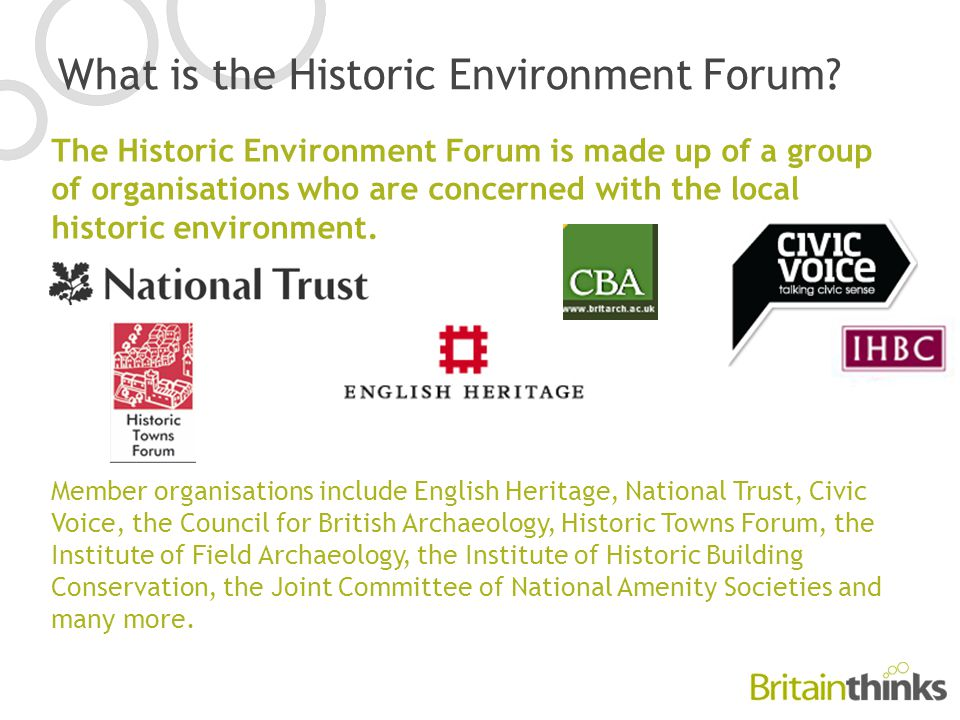 What is the Historic Environment Forum.
