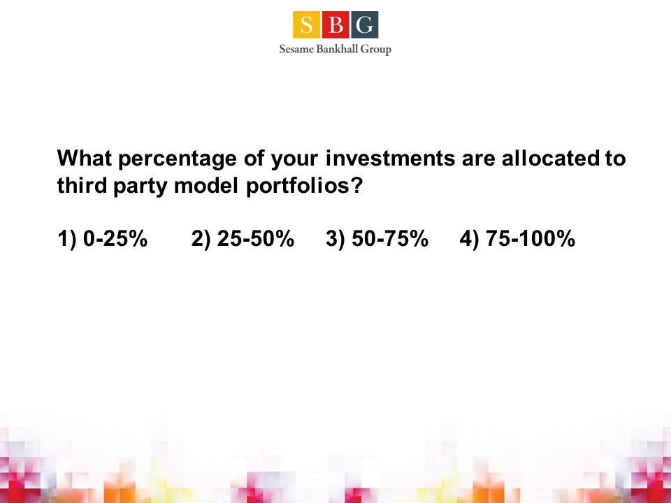 What percentage of your investments are allocated to third party model portfolios.