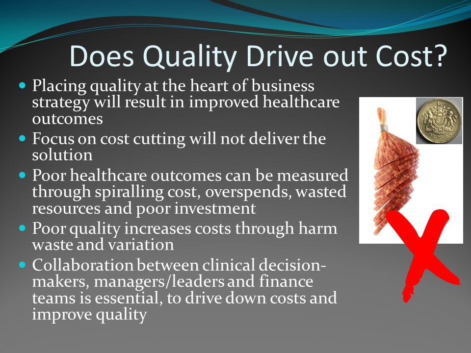 Does Quality Drive out Cost.