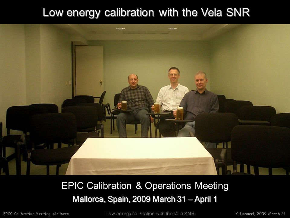 EPIC Calibration Meeting, Mallorca Low energy calibration with the Vela SNR K.