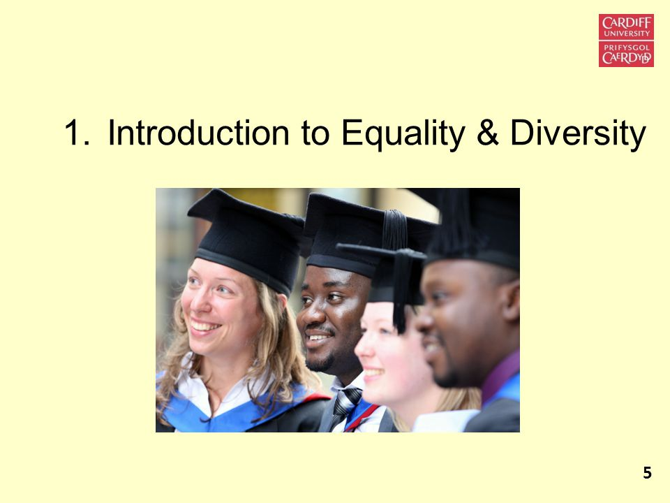 1.Introduction to Equality & Diversity 5