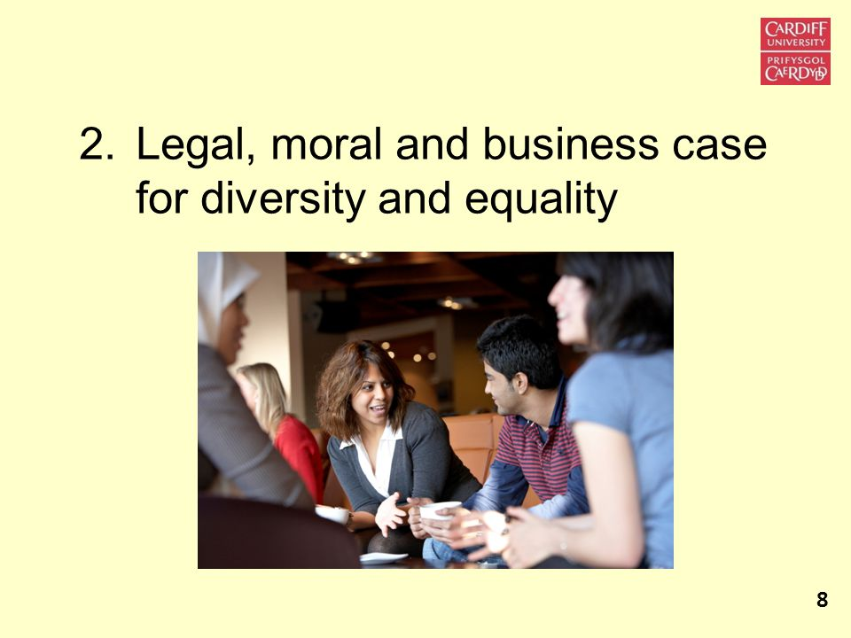 2.Legal, moral and business case for diversity and equality 8