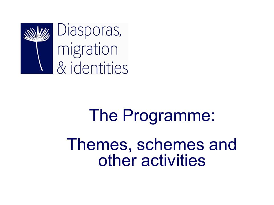The Programme: Themes, schemes and other activities