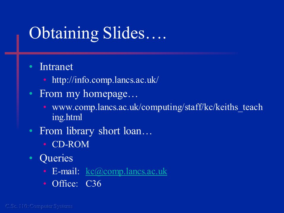 Obtaining Slides….