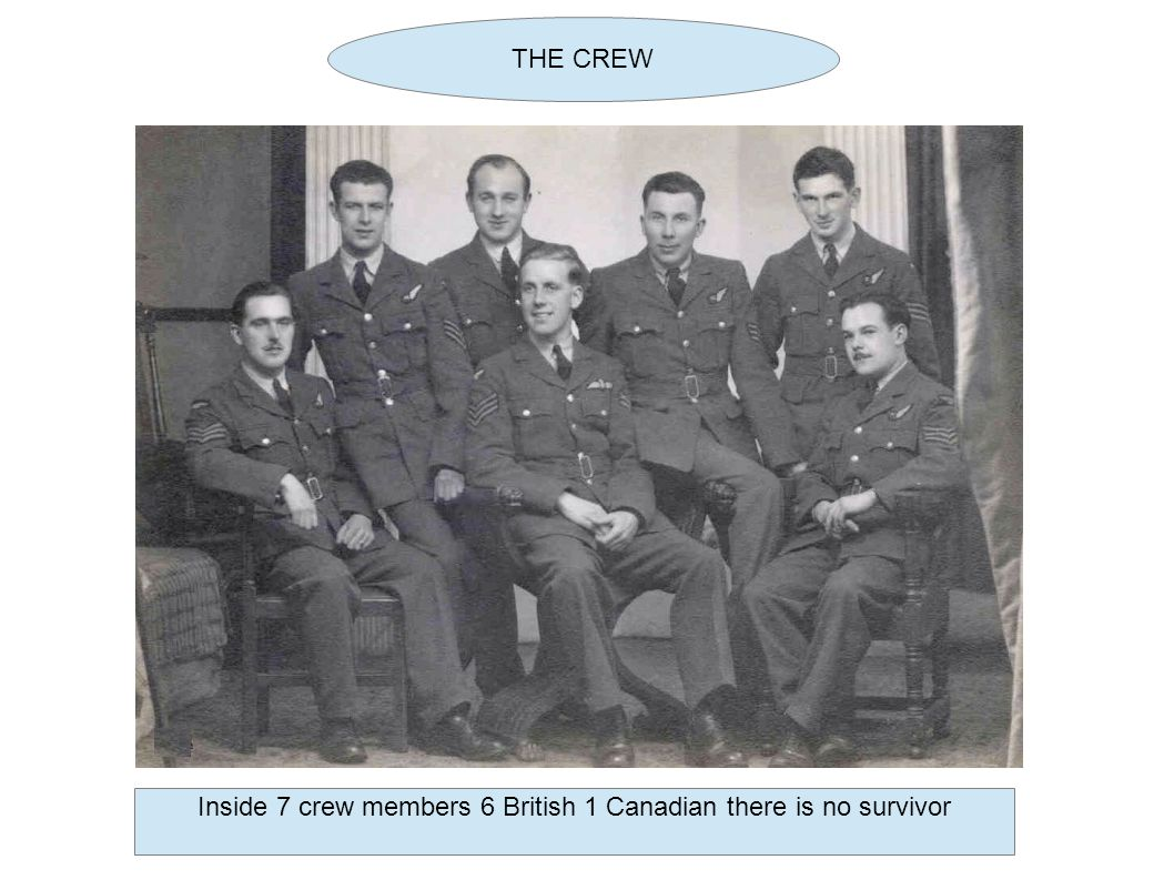 THE CREW Inside 7 crew members 6 British 1 Canadian there is no survivor