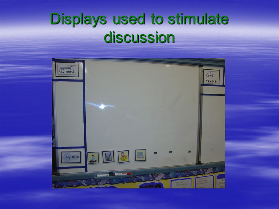 Displays used to stimulate discussion