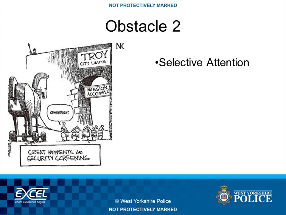 Obstacle 2 Selective Attention